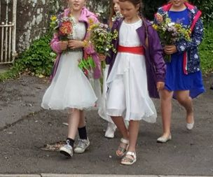 School children learn about marriage